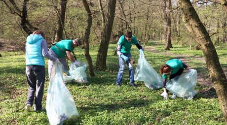 Curățeniada 2014. Voluntarii au adunat zeci de saci cu gunoaie