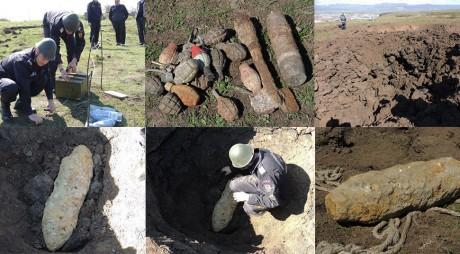 O bombă de 80 de kilograme, detonată de pompierii hunedoreni