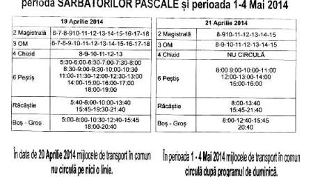 Sărbătorile modifică programul transportului în comun din Hunedoara