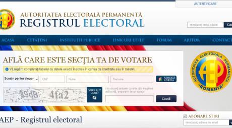 Alegătorii pot afla pe Internet la ce secţie pot vota la europarlamentarele din 25 mai