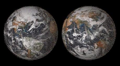 """NASA a realizat un """"selfie"""" global cu ocazia Zilei Pamantului, un mozaic interactiv format din peste 36.000 de fotografii"""