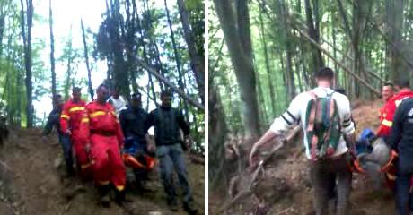 Misiune dificilă de salvare a unui hunedorean aflat într-un sat izolat