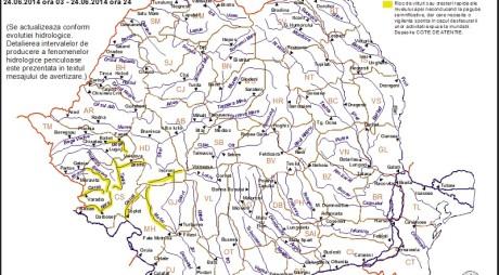 ATENȚIONARE | COD GALBEN de INUNDAŢII în HUNEDOARA