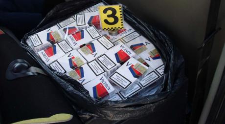 Prins în flagrant cu 55 de cartuşe de ţigări de contrabandă
