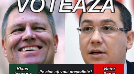 SONDAJ | Klaus Iohannis sau Victor Ponta, pe cine aţi alege preşedinte?