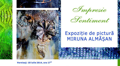 IMPRESIE SENTIMENT | Expoziție de pictură – Miruna Almășan