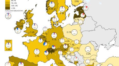 Câţi locuitori are Uniunea Europeană