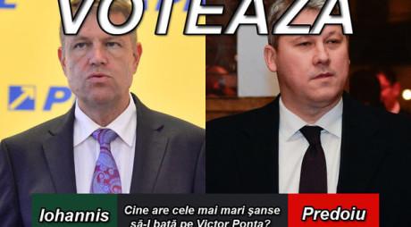 SONDAJ | Iohannis sau Predoiu? Cine are cele mai mari şanse să-l bată pe Victor Ponta?
