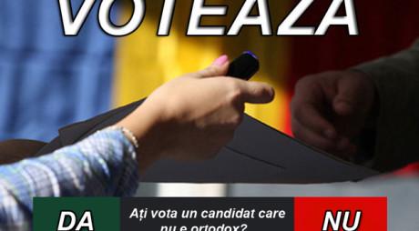 SONDAJ. Aţi vota la prezidenţiale un candidat care nu e ortodox?