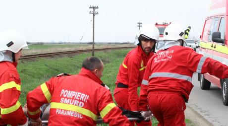 Accident MORTAL pe DN7. Un Audi s-a izbit de un autocar