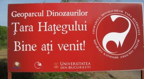 """""""Zalmoxes robustus"""" este expus în Geoparcul Dinozaurilor din Haţeg"""