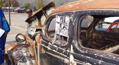 FOTO! Mașina din garda regelui Mihai I, restaurată la PETROŞANI