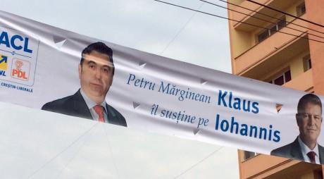 UMILINȚĂ PENTRU PONTA! VICEPREȘEDINTE PC PE AFIȘELE LUI KLAUS IOHANNIS