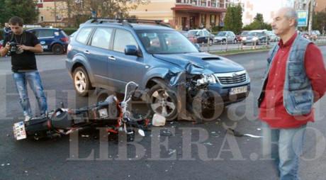 ACCIDENT – DEVA | Motociclist în stare gravă