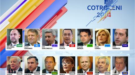 PREZIDENȚIALE 2014   Iohannis recuperează față de Ponta. Surpriza de pe locul III