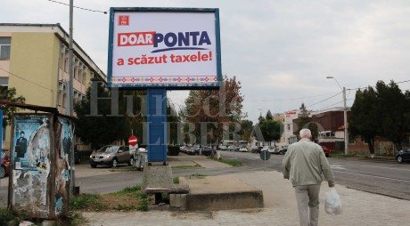 TUPEU DE CANDIDAT   PONTA susţine că A SCĂZUT TAXELE!