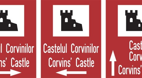 Noi indicatoare de INFORMARE către Castelul Corvinilor