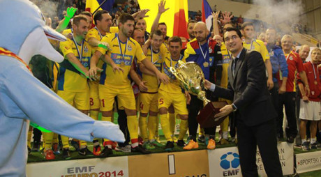 Echipa României de minifotbal a câştigat Campionatul European