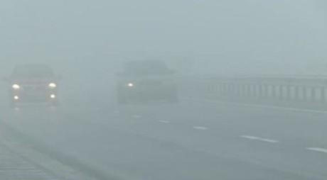 ANM: Cod glaben de ceață pentru mai multe județe