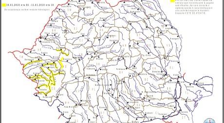 Județul Hunedoara | Cod galben de INUNDAȚII