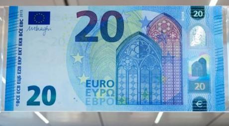 S-A LANSAT NOUA BANCNOTĂ DE 20 DE EURO