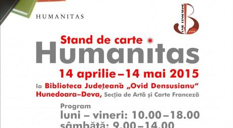 Editura HUMANITAS, stand de carte cu vânzare la Deva
