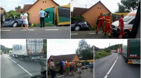 Familie cu doi copii implicată într-un accident
