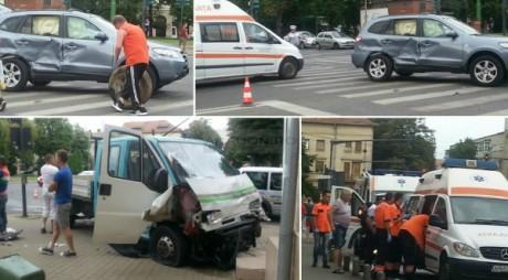 Accident grav în centrul Aradului