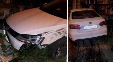 TUPEU. Fata unui primar a urcat băută la volan și a produs un accident