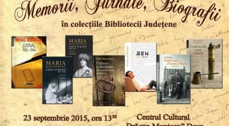 """Memorii, Jurnale, Biografii în colecțiile Bibliotecii Județene"""