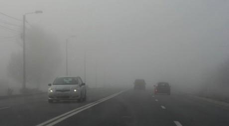 Condiții de ceață și carosabil umed. Recomandările polițiștilor rutieri