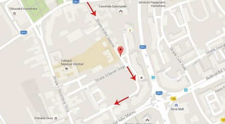 Cum se va circula pe strada Andrei Șaguna din Deva