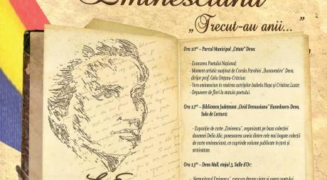 Ziua lui Eminescu, marcată de Biblioteca Județeană