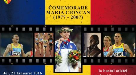 Ceremonie de comemorare a atletei Maria Cioncan