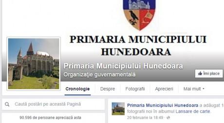 La Hunedoara, pagina de Facebook a Primăriei este, de fapt, a primarului…