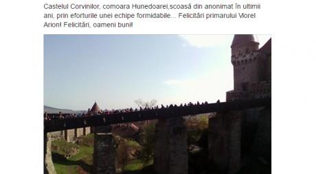 Castelul Corvinilor, confiscat pentru alegeri