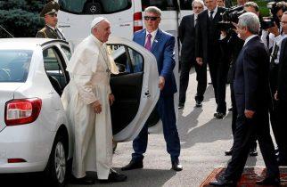 Papa Francisc în LOGAN, Mitropolitul în MERȚAN