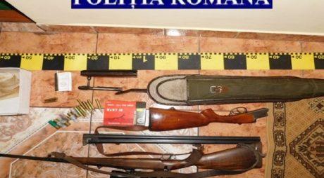 Arme, țigări și bani confiscate la Făget după șase percheziții domiciliare
