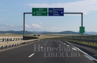 Trambulină pe Autostrada Orăştie-Sibiu, la Cunța