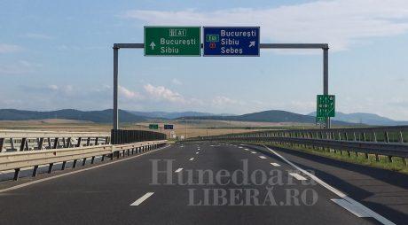 Trafic restricţionat pe A1, Deva – Sibiu