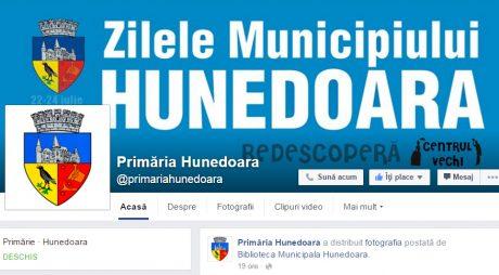 Primăria Huneodara are pagină nouă de Facebook