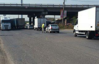 Trafic rutier îngreunat pe DN7 între Deva și Arad