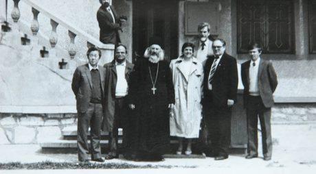 Fotografie inedită – Patriarhul Daniel, în vizită la Biserica din Ghelari