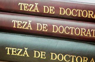 Standarde minimale pentru acordarea titlului de Doctor