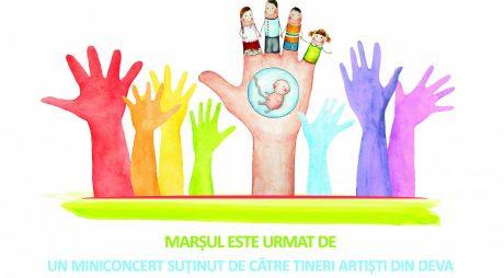 De BunaVestire, Marș pentru viață în 11 localități din județ
