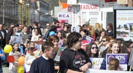 Marș pentru viață în 11 localități din județ