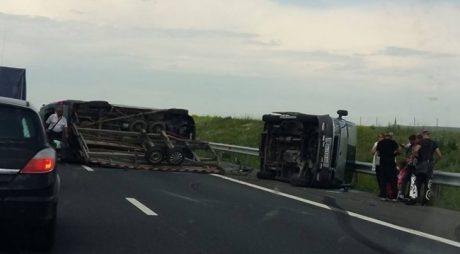 Planul roșu de intervenție activat în urma unui accident pe autostrada A1