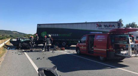 ACCIDENT MORTAL pe șoseaua groazei din Vestul țării – FOTO