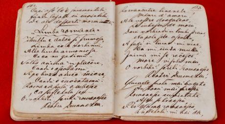Manuscris cu poezii, exponatul lunii august la MCDR