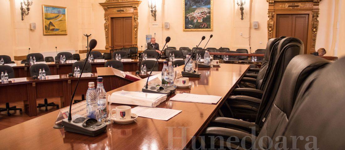 Ședință de plen la Consiliul Județean Hunedoara